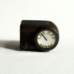 Miniature Brown Bakelite look Radio Dollhouse by TwelfthDimension