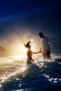 Summer wedding ideas: Ocean Swim