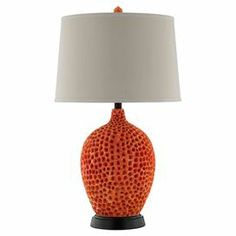 "Add coastal charm to your reading nook or nightstand with this whimsical lamp, showcasing a lovely coral-inspired base.   Product: Table lampConstruction Material: Resin, metal and fabricColor: Coral and beigeFeatures: 3-Way switchAccommodates: (1) 150 Watt bulb - not includedDimensions: 30"" H x 17"" DiameterCleaning and Care: Wipe with a damp cloth"