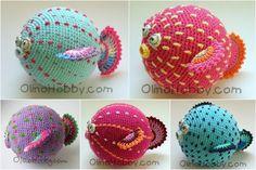 Pez globo. Idea: a partir de una esfera de color, se le agregan accesorios como la cola, aletas, ojos y boca y se caracteriza a este pez.