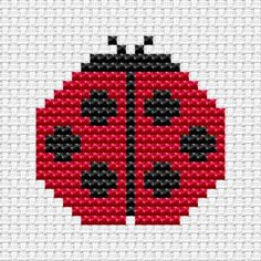 Easy Peasy Ladybird Cross Stitch Kit | Childrens Cross Stitch Kits ...