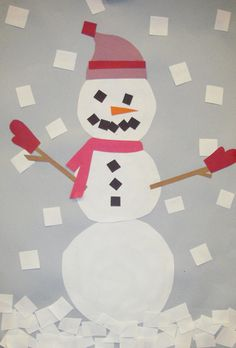 Snowmen: Love this one! We read Snowmen at Night and the write about what our snowmen do at night to post under the art project.