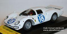 """Ferrari 365P2 NART """"Elefante Blanco"""" nº18, retirado en las 24h de Le Mans de 1966 con Gregory y Bondurant. Modelo realizado por Top Model a escala 1:43"""