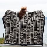 This design was created by Louie Gong (Nooksack) after researching traditional Coast Salish weaving. Although our blankets are created using modern technology, it was very important to Louie that he...