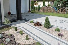 kostka najwyższa jakość Paving Design, Block Paving, Exterior Design, Stepping Stones, Sidewalk, Backyard, Plants, Driveways, Front Yards