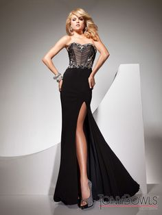 You will be sure to look effortlessly elegant in Tony Bowls, edgy gown 113740 for the prom 2013 season! Place your order at www.promgirl.net