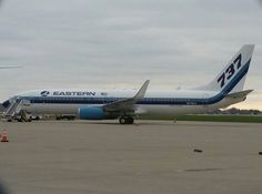For the first time in 25 years Eastern Airlines returns to IND, this was a charter flight as they have not yet started passenger service.