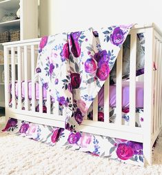 Baby Girl Crib Sets, Girl Crib Bedding Sets, Girl Cribs, Nursery Bedding, Flower Nursery, Rail Guard, Modern Nurseries, Girl Nurseries, Baby Room