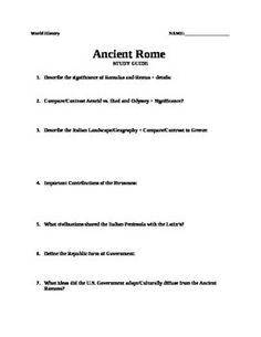 ancient unit study guide world history ancient history ancient rome unit study guide world history