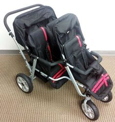 Red Black Triple Trio Tandem Baby Jogger Stroller Rain Canopy