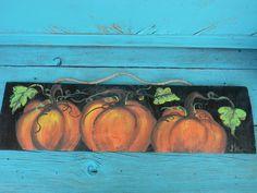 Pumpkin Canvas Painting, Ponca City, Fall Signs, Autumn Art, Painted Pumpkins, Christmas Wood, Teaching Art, Fall Halloween, Halloween Decorations