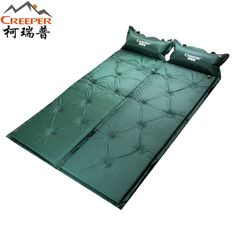 (32.00$)  Buy here  - Two pieces ultra wide comfortable  inflatable mat camping cushion with pillow