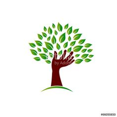 Hand on ecology awareness image. Concept of tree wisdom - Buy this stock vector and explore similar vectors at Adobe Stock Tree Images, Tree Logos, Clip Art, Science Art, Science Fiction, Ecology, Graphic Illustration, Art Deco, Concept