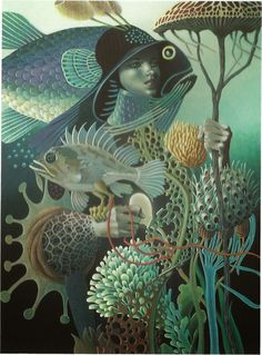"""The Art of Leo and Diane Dillon: Spectrum Issue 21: """"Spirit of the Reef"""""""