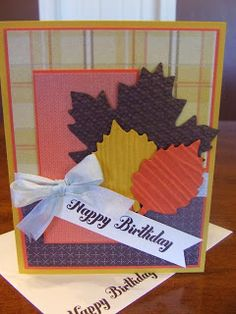 *Stampin' Up, by Amy Frillici, Gathering Inkspiration, order products online at amysuzanne.stampinup.net, autumn accents bigz die, woodgrain impression folder, square lattice impression folder, bring on the cake set