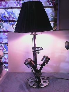 Harley-Davidson-Parts-Motorcycle-Man-Cave-Lamp-Only-one-Steampunk