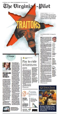The Virginian-Pilot's front page for Sunday, August 4, 2013.