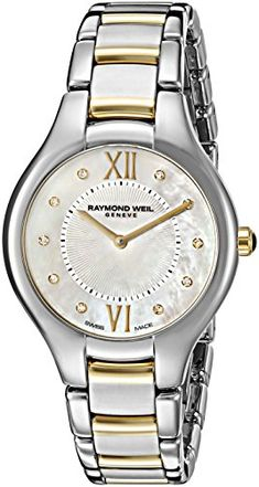 Raymond Weil Women's 5132-STP-00985 Noemia Swiss Two-Tone Watch *** Check this awesome product by going to the link at the image. (This is an affiliate link)