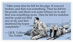 Pipe quote by JRR Tolkien