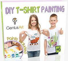 Genius Art Diy T-Shirt Painting - Girls And Boys Arts And Crafts Toys - Stocking Stuffers For Kids Halloween Crafts For Kids To Make, Christmas Crafts For Kids, Diy Crafts Kits, Arts And Crafts, Fun Games For Kids, Kits For Kids, Tie Dye Kit, Stocking Stuffers For Kids, T Shirt Painting