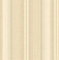 Green and Brown Harpina Stripe Wallpaper, SBK26899