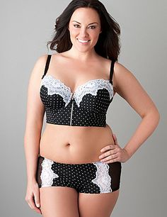 Apparently all the cute/awesome plus size lingerie was hiding at Lane Bryant. Who knew?!..This is so hot! I want it! LOL