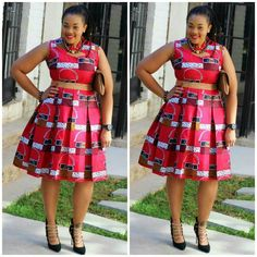 Ankara Plus Size Pleated Dresses For Women On The Big Side