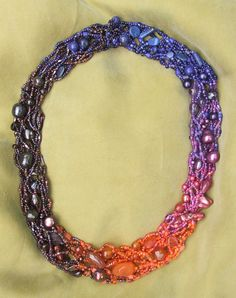 Jewelry Pattern Wander With Color Freeform от BeverlyAshGilbert
