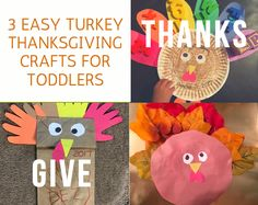 3 Amazing and Simple Thanksgiving Crafts for Toddlers That Your Child will Truly Enjoy. These activities double as learning activities as well. Toddler Crafts, Toddler Activities, Learning Activities, Thanksgiving Crafts For Toddlers, Thanksgiving Turkey, Activities For 2 Year Olds, Easy Diy Crafts, Sunday School, Boy Or Girl