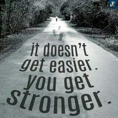 It doesn't get easier. You get stronger. #running
