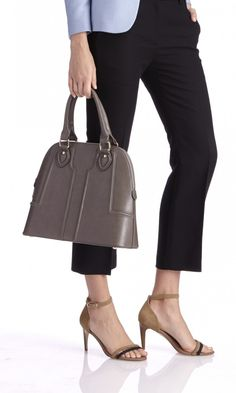 Style this indispensable satchel with your sleek pencil skirts and jackets. Expect compliments aplenty.