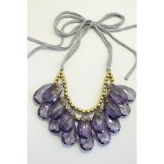Clear Midnight Navy Blue Double Strand by EclecticOrnaments via Polyvore