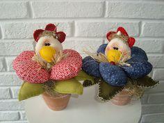 Esses vasetto estão no festival de artesanato em Floripa.