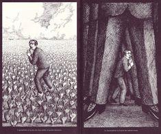 02 Agoraphobie et Claustrophie, illus. Roland Topor (Le Livre de Sante, v.9, 1967)