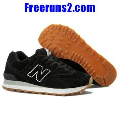 56fc7341bb95 Cheap Discount New Balance NB 574 dark Black Brown For Men shoes Football  Shoes Shop