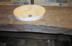 Bathroom vanities made from reclaimed wood