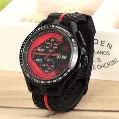SPEATAK Multifunction Men's Rubber Band 3ATM Waterproof Quartz Sport Watch w/ Stopwatch / Timer / Calendar