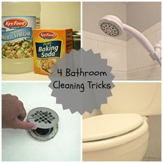 4 awesome DIY cleaning tricks for the bathroom by @Candace Renee Renee Schultz HQ