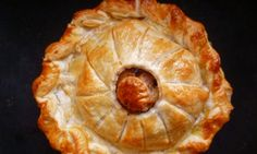 Roasted apple, cheese and shallot pithivier