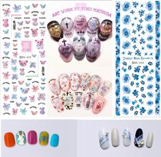 0.54$  Know more - Rocooart DS419-439 New Summer Fantacy Flowers Water Transfer Nails Art Sticker Harajuku Nail Wrap Sticker Tips Manicura stickers   #magazineonlinebeautiful