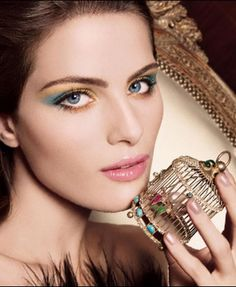 yellow and green blue make up