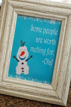 Frozen Birthday Party - Olaf Quote... by bottled water, of course...