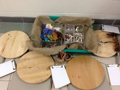invitation to play with natural materials, draw, and write.  From Joanne Marie Babalis of Our Reggio Emilia-Inspired Classroom Transition.
