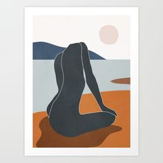 Abstract Art Nude 4 Art Print by thindesign Painting Inspiration, Art Inspo, Art Deco Posters, Minimalist Art, Aesthetic Art, Art Auction, Abstract Art, Art Drawings, Art Projects