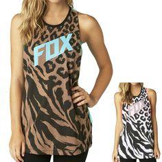 2015 Fox Racing Womens Summer Cheebrah Muscle Casual Sleeveless Tank Top