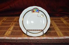 "Vintage Chubu China Hand Painted CHERRY Exclusive BFCL Saucer 5 1/2"" #ChubaChina"