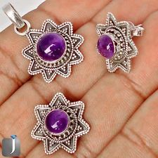 An jewelry set with gleaming purple amethyst gemstone is now available at our eBay store..!!  #jewelexi  #silverearrings  #silverpendant  #earrings  #jewelryset  #jewelry #silverjewelry  #pendant