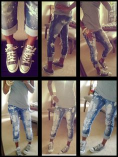 ChicMadness: Photo.... Chuck Taylor's all stars & dstressed jeans