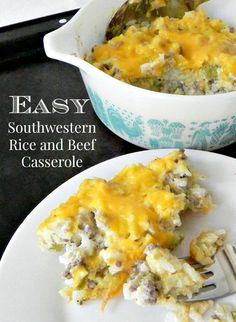 Easy Southwestern Rice and Beef Casserole - 3 cooked rice, lb cooked ground beef, cups sour cream, 1 cup shre Beef Casserole, Casserole Recipes, Frugal Meals, Easy Meals, Fast Dinners, Beef And Rice, Mexican Food Recipes, Ethnic Recipes, Cooking Recipes