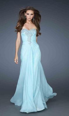 Embellished Sleeveless Chiffon A-Line Sweetheart Long Prom Dress Sale kaladress11762
